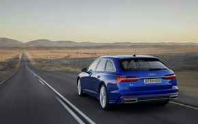 Picture blue, Audi, markup, 2018, universal, A6 Avant