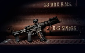 Picture metal, design, weapons, background, carabiner, assault rifle