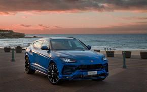 Picture sunset, Lamborghini, 2018, crossover, Urus
