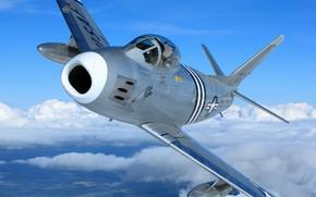 Picture USAF, North American, F-86 Sabre, North American F-86А Sabre