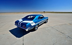 Picture Muscle, Car, Blue, 1970, Nova