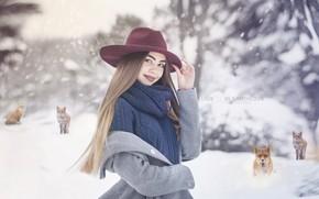 Picture winter, portrait, winter portrait, female portrait, artportret, the picture winter, women's winter portrait, portrait staged