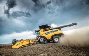 Picture Dust, Wheel, Wheat, 2018, Grain, Harvester, Track, New Holland, Psenica, New Holland CR10.90 Revelatio