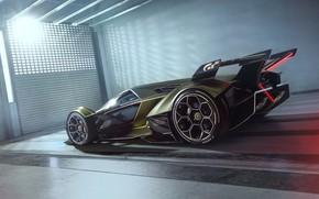 Picture Lamborghini, Wheel, The concept car, Lambo, Drives, V12, Vision Gran Turismo, 2019, Lambo V12 Vision