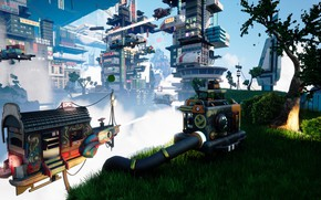 Picture grass, tree, pipe, facilities, Busan 2070