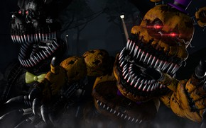Picture teeth, fangs, mechanical dolls, Five nights at Freddy's, Five Nights at Freddy`s