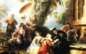 Picture picture, genre, The return from the Hunt, Joseph Parrocel, Joseph Parrocel