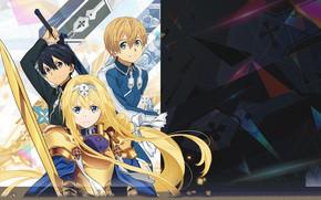 Picture Kazuto, Eugeo, Alice Mount, Sword Art Online: Alicization, Sword Art Online Alicization, Kirigaya Kirito