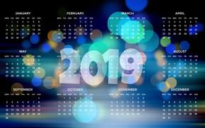 Picture calendar, date, 2019