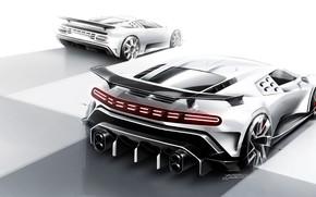 Picture Design, Figure, Bugatti, Hypercar, Sportscar, 2020, Bugatti EB110, EB110, One hundred and ten, Bugatti Centodieci