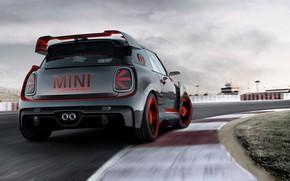 Wallpaper Concept, Mini, Cooper, rear view, 2017, John Cooper Works GP