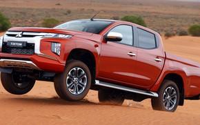 Picture desert, Mitsubishi, pickup, Double Cab, L200, Triton, 2019