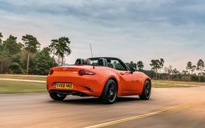 Picture road, the sky, orange, Mazda, Roadster, MX-5, 30th Anniversary Edition, 2019