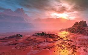 Picture Space, landscape, planet