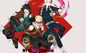Picture guys, trio, My Hero Academia, Boku No Hero Academy, My Hero Academy