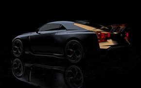 Picture background, Nissan, dark, 2018, ItalDesign, GT-R50 Concept