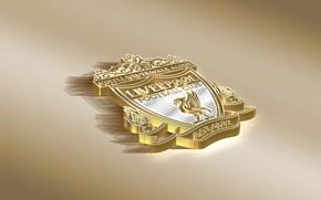 Picture Logo, Golden, Football, Liverpool FC, YNWA, Soccer, Emblem, English Club