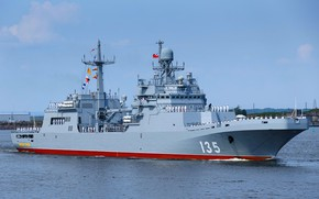 Picture ship, landing, Baltika, Parade, Ivan Gren, project 11711