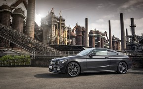 Wallpaper coupe, Mercedes-AMG C 43 4MATIC Coupé, 2018, Mercedes-Benz, Mercedes - Benz, graphite grey metallic