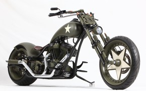 Picture Chopper, Harley-Davidson, Military, Custom, Motorbike