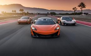 Picture Speed, Supercars, Road, McLaren 720S, McLaren 600 LT, McLaren 620 R