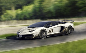 Picture speed, Lamborghini, supercar, 2018, Aventador, Aventador SVJ, The CONDOMINIUM 63