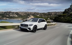 Picture road, Mercedes-Benz, speed, AMG, crossover, GLC, 2020, 4Matic+, GLC 63S