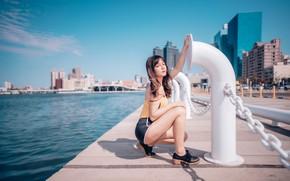Picture look, girl, hair, Asian, cutie, promenade