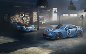 Picture garage, 911, Porsche, Turbo S, Pedro Rodriguez, Porsche 911 Turbo S, 2021