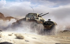 Picture dust, tank, War Thunder