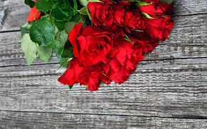 Picture roses, bouquet, wood