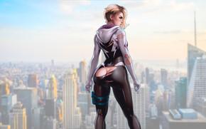 Picture girl, ass, girls, marvel, comics, blonde, comic, gwen stacy, spider gwen, superheroines
