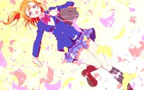 Picture girl, form, schoolgirl, bag, Love Live School Idol Project, Living love