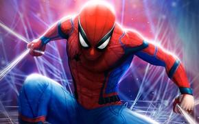 Picture fiction, web, art, costume, comic, Spider-man, MARVEL, Spider-Man