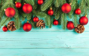 Picture decoration, balls, New Year, Christmas, Christmas, balls, wood, New Year, decoration, xmas, Merry, fir tree, …