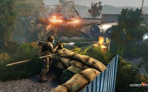 Picture weapons, helicopter, fighter, shootout, ammunition, VIP, Machine gun, mercenaries, Ironclad, BEAR, USEC, hops, Hired Ops, …