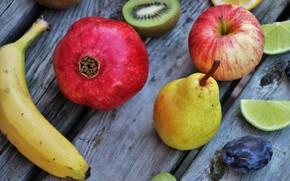 Picture Fruit, pear, garnet