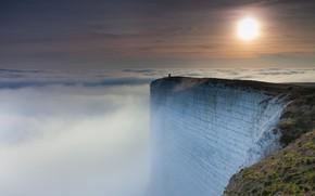 Picture clouds, open, The sun, clouds, sun, precipice, Rhys Davies