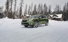 Picture snow, Subaru, crossover, Forester, 2019