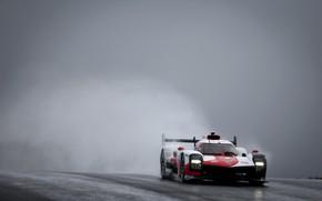 Picture fog, Toyota, wet asphalt, dampness, WEC, 4WD, 2021, Gazoo Racing, GR010 Hybrid, 3.5 л., V6 …