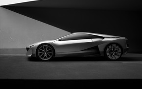 Picture coupe, BMW, shadows, in profile, 2019, Vision M NEXT Concept