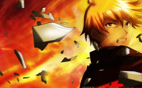 Picture fragments, movement, anger, guy, Gilgamesh, Fate stay night, Fate / Stay Night