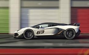 Picture speed, Lamborghini, supercar, side view, 2018, Aventador, Aventador SVJ, The CONDOMINIUM 63