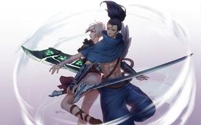 Picture Riven, League Of Legends, Yasuo