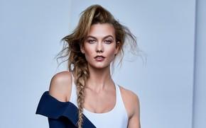 Picture look, girl, model, portrait, braid, Karlie Kloss