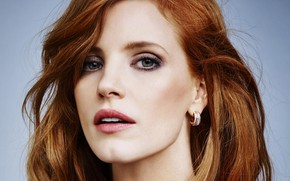 Picture look, pose, portrait, makeup, actress, hair, Jessica Chastain, Jessica Chastain
