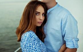 Picture look, girl, hugs, male, lovers, Ann Nevreva