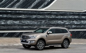 Picture wall, Ford, the sidewalk, side, Everest, Limited, 4WD, 2019