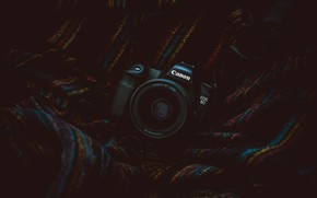 Picture The camera, lens, Camera, fabric, Canon, Canon