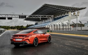 Picture coupe, track, BMW, Coupe, tribune, 2018, 8-Series, dark orange, M850i xDrive, Eight, G15